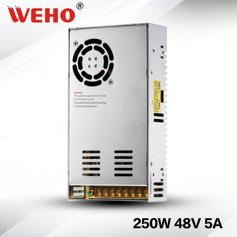 Hot selling Single output voltage 250w 48v ac/dc switching power supply