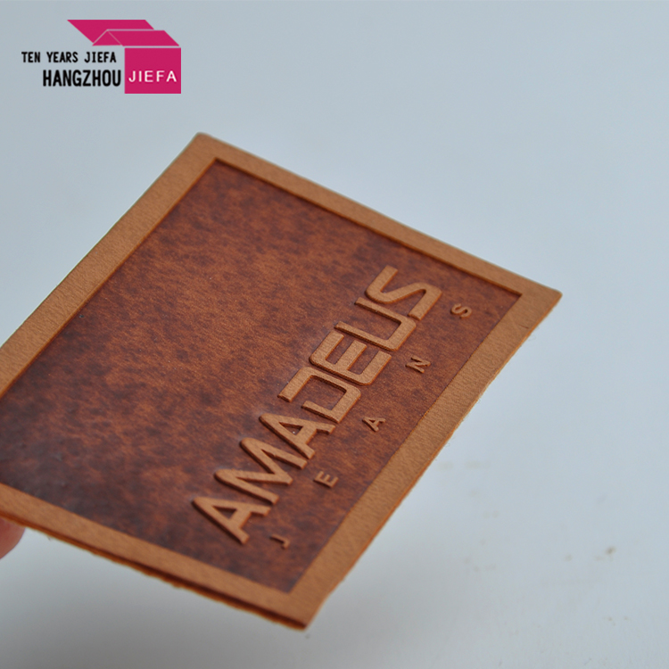 PU leather label tag for goods