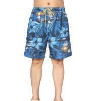 100% microfiber twill polyester sublimated cheap bermuda swim shorts