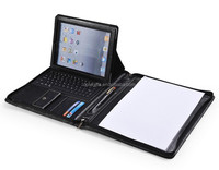 A4 PU/PVC/leather manager portfolio/file folder/ring binder/holder with magnetic closure logo