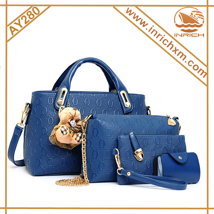 Vogue Cover Celebrity Wholesale Handbag 4pcs Fashion Lady Handbag 2016