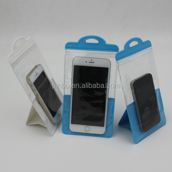 PVC Stand Disposable Cheap Waterproof Phone Bag