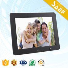 2017 NEW high quality 1024*768 12 inch digital photo frame with remote control