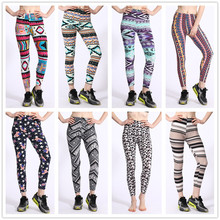 Fashion Women Double Brushed Knit Fleece Lined Sublimation Digital Printed Plus size High Waisted Yoga Pants