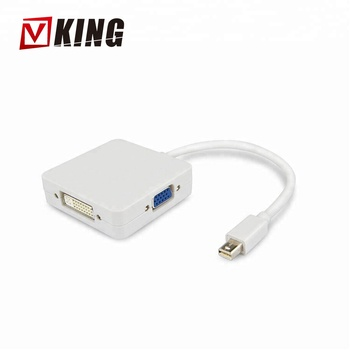 Factory wholesales Mini DP TO HDMI + VGA + DVI DisplayPort Maximum Single Link Range: 1920 * 1200@60Hz.