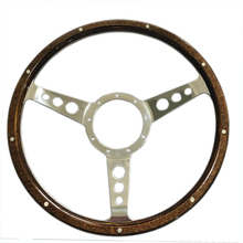 14'' Laminated Wood Steering Wheel for Jaguar,MG,Austin Healey,Mini,Triumph,Mustang,Shelby AC Cobra,even Boat