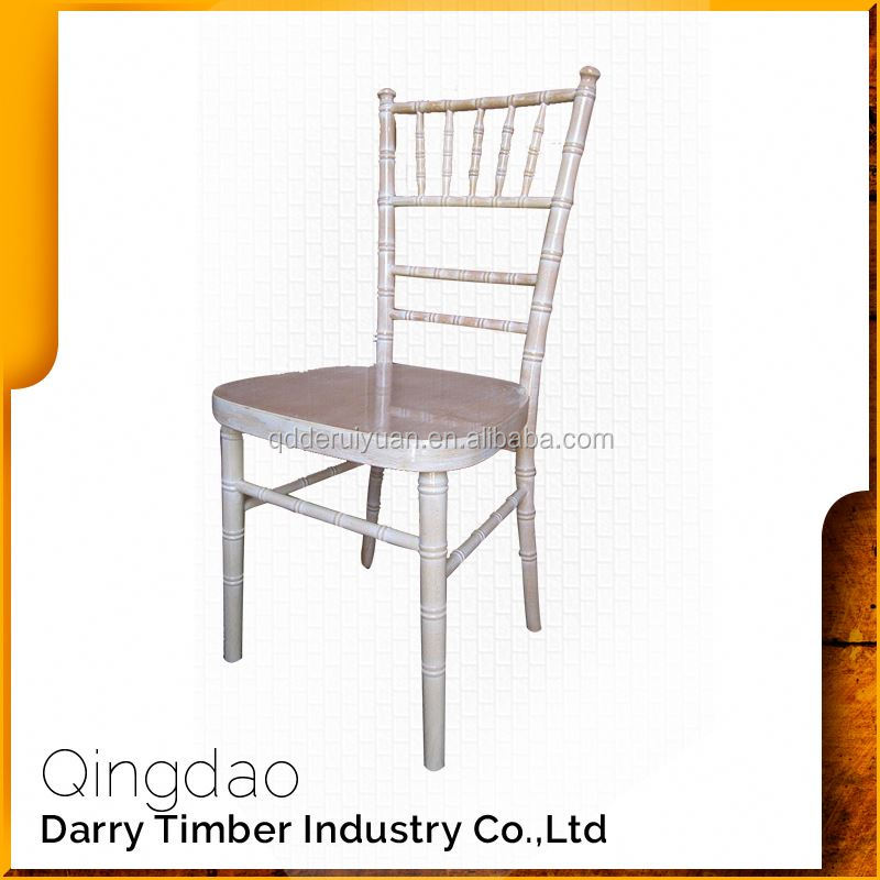 Flexible Raw Material Lime Wash Wood Chiavari Chair For Wedding