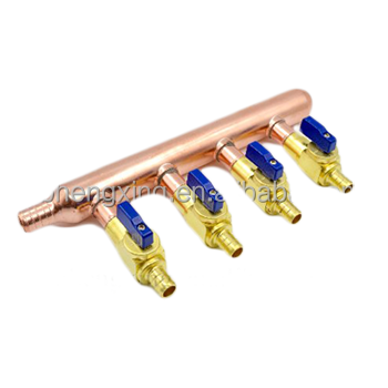 Copper Manifolds/PEX pipe/underfloor heating system