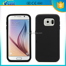 VCASE Hot selling PU Leather Smart Flip Case Cover For Samsung Galaxy S6 Edge