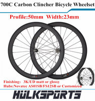 700C Wheelset Carbon Road Bike Clincher Wheel Powerway R13 Hub Carbon Bike Wheels