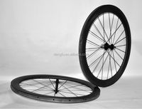 Dengfu hot sale carbon road bicycle wheels 27mm width rim 700c* 56mm clincher carbon wheelset