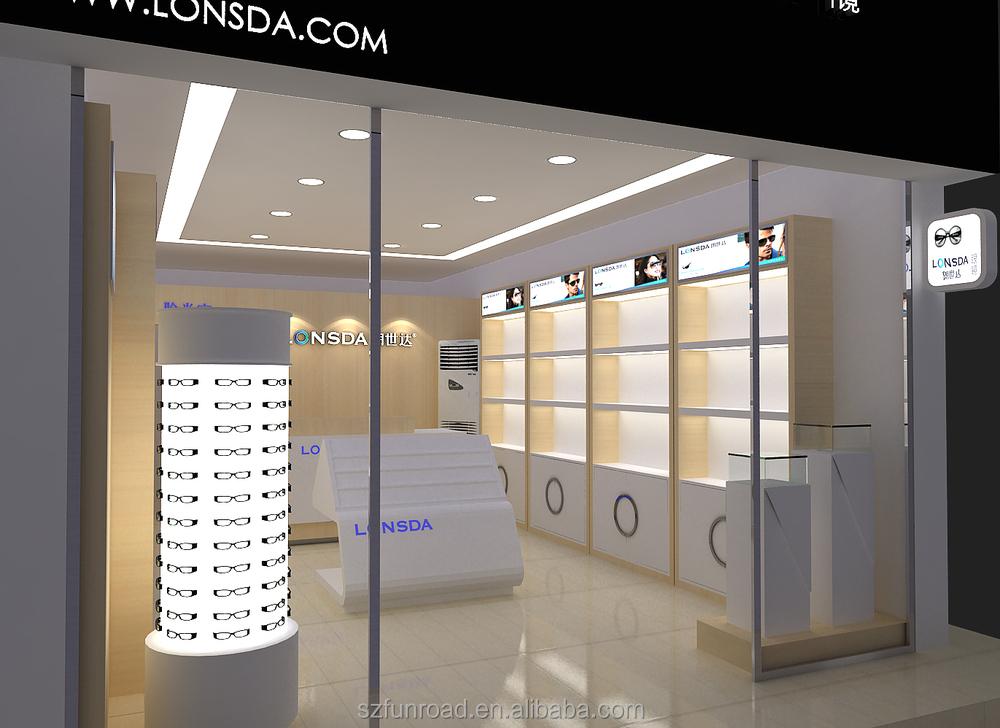 Latest Illuminated Optical Shop Commercial Furnitures