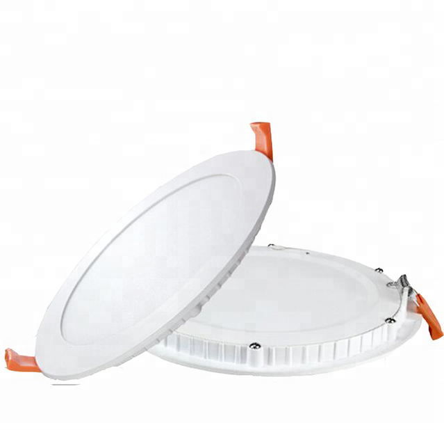 No Leak Light 3W 6W 9W 12W 15W 18W Recessed led <strong>flat</strong> panel light Round Ultra Silm Led ceiling Panel Light parts housing hs code