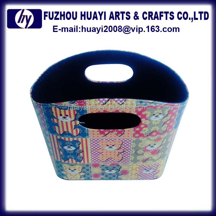 2016 small floral gift basket wholesale , tote storage bag basket