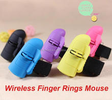 2.4GHz USB Wireless Finger Rings Optical Mouse 1600DPI For All Notebook Laptop Tablet Desktop PC