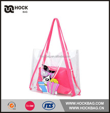 New Custom Corloful pink jelly avon beach bag 2 pcs set