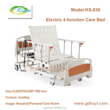 Old health Electric 4-function medical care bed with seating function