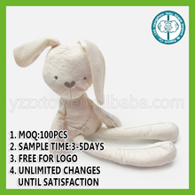 Hot sale stuffed soft comfortable plush rabbit baby toys for pacifying baby to sleep