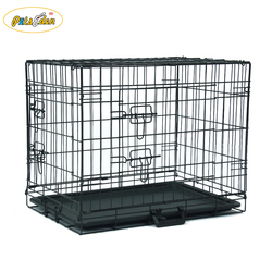 Animal Kennel Portable Folding Suitcase Doors Large Pet Crate Metal Dog Kennels Cages