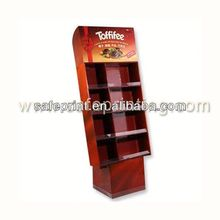 good quality counter cardboard book wooden floor display stand