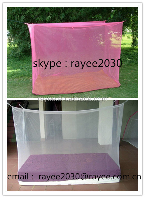 Home Use and Quadrate Shape hanging mosquito net, Folded Feature folded mosquito net