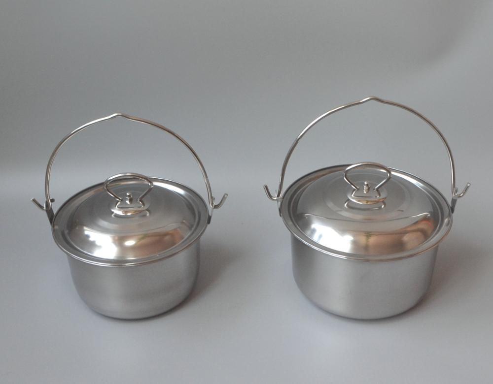 Camping pot stainless steel 410 outdoor cookware pot
