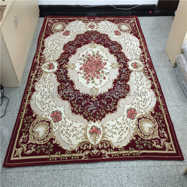 Hot sale oriental art chenille yarn jacquard home textile floor carpets / cheap rug