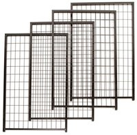 Custom logo Large outdoor galvanized welded wire dog kennel gate panel