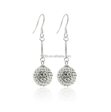 CZ crystal ball drop earrings - good quality and fast delivery