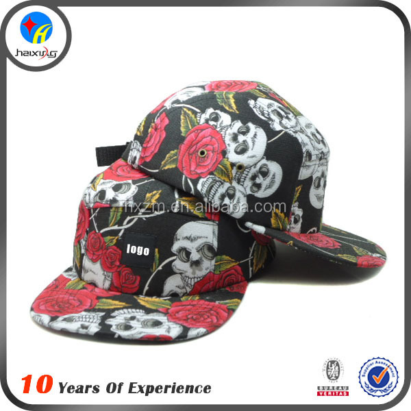 bandana print floral hawaii 5 panel cap