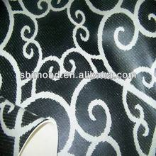 tachisme design Print PVC rexine leather for Flooring