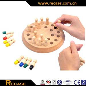 Wholesale Board Game Pieces Custom Wooden Brain Teaser Intelligence Memory Chess Toy