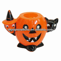 Halloween Holiday Pumpkin Ceramic Bowl for Candy and Sugar
