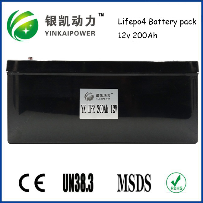 Long Cycle Time LiFePO4 Type 12V 200Ah Solar Storage Battery Pack with BMS from China battery manufacturer
