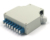 DIN Rail fiber optic terminal box with 8 LC Duplex adapter
