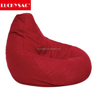 Eco-friendly EPS Beans Sofa Chair Indoor Furniture Linen Fabric Beanbag Lazy Chair