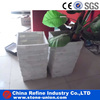 Natural slate stone cement column for garden