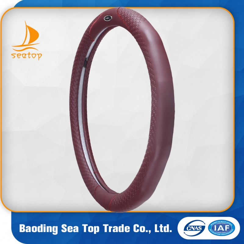 hot sale genuine leather car steering wheel cover