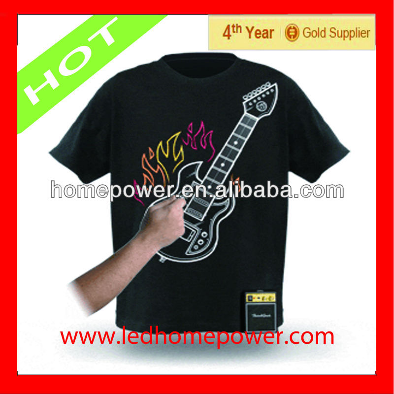 Hotest music guitar el t shirt from china