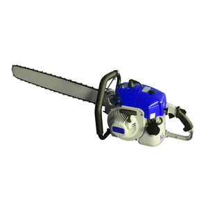portable gas powered mini chain saw wood cutting machine concrete gasoline steel stone petrol chain saw
