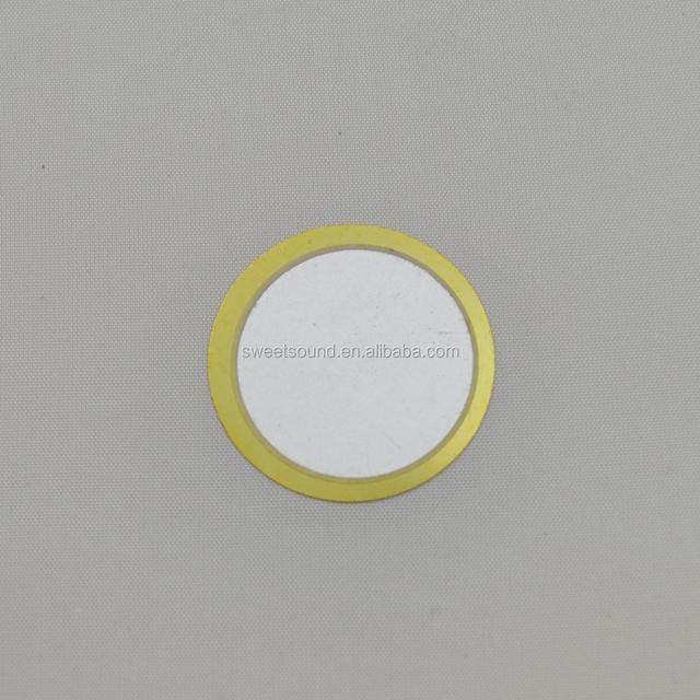piezoelectric ceramic piezo buzzer element 1.6khz 38mm piezo disc