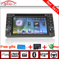 Bway 2 din car video for Geely VISION HaiJing car dvd gps 256 MB RAM with car Radio bluetooth,steering wheel