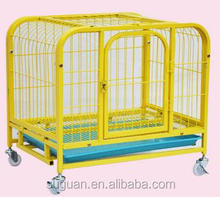 metal dog crate foldable on wheels