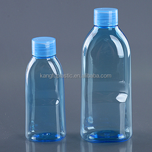 250ml PET plastic blue eye care wash liquid bottle