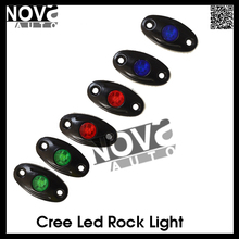 "2"" 9W RGB mini LED rock light, off-road led light, 2 inch Led Tail Dome Light"