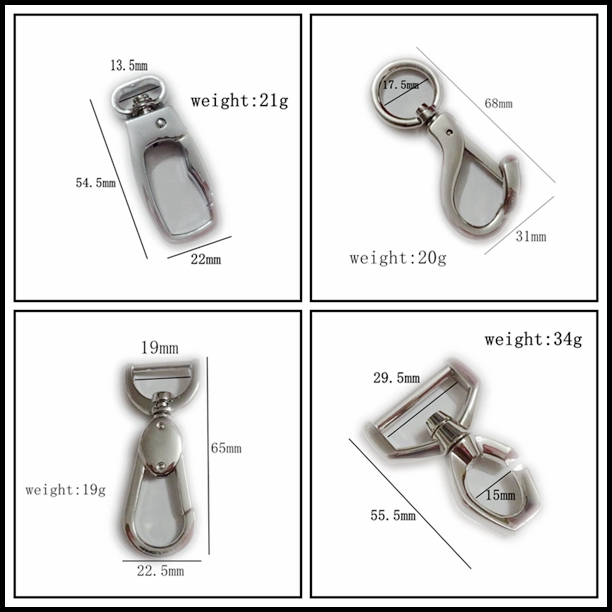 Bag Hardware Snap Hook Key Chain