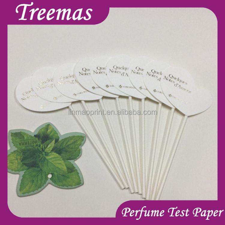 papel para probar perfumes