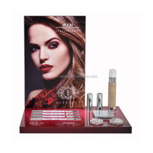 DIY makeup display with printed poster tester unit display stand cosmetics holder