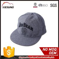 100 Melton Wool Grey Baseball Snapback Cap Hat