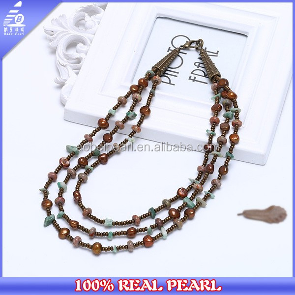 New Design 2017 Handmade Freshwater Pearls Necklace 18